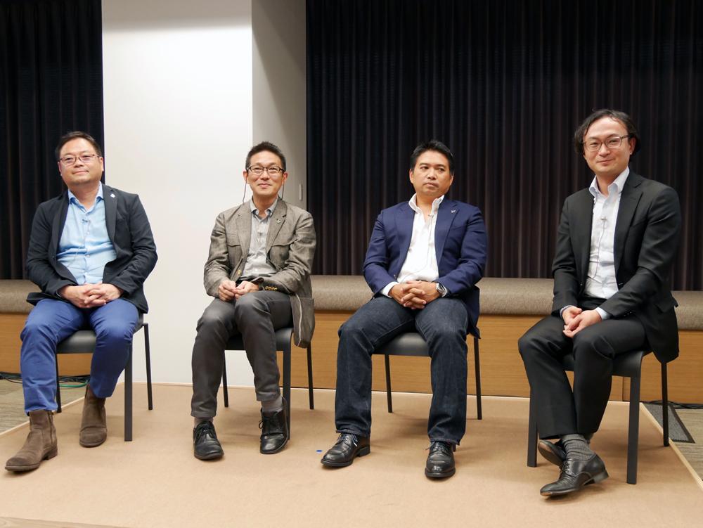 (左から)Twitter Japan株式会社代表取締役の笹本裕氏、執行役員の王子田克樹氏、味澤将宏氏、牧野友衛氏