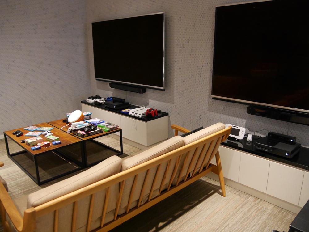 大会議室の脇に用意されたゲームルーム