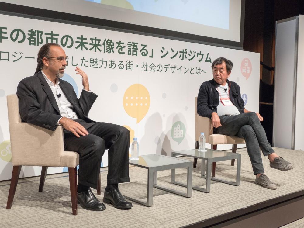 アストロ・テラー氏(左)と隈研吾氏(右)