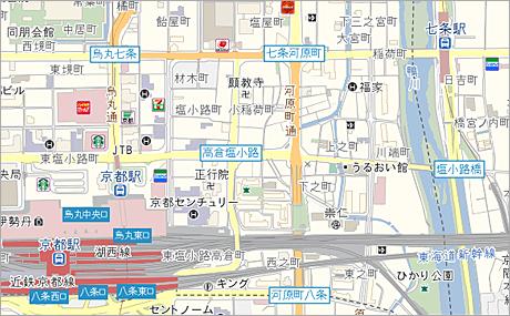 「標準マップ」の地図デザイン