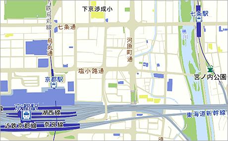 「おもてなしマップ」の地図デザイン