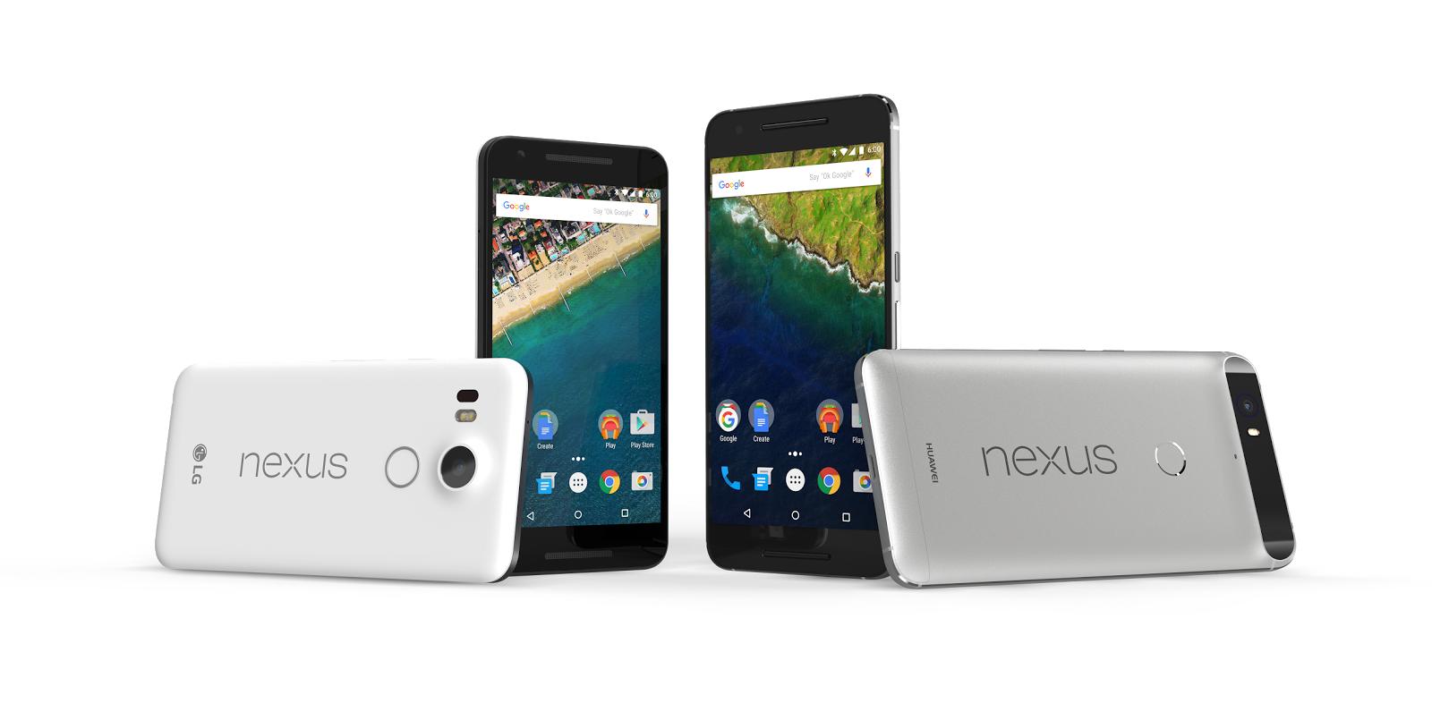 「Nexus 5X」「Nexus 6P」