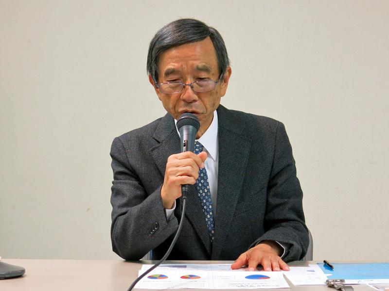山崎榮三郎氏(電流協電子図書館部会委員長)
