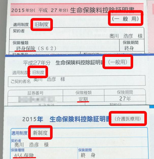 生命保険料控除証明書に必要な情報が書かれている