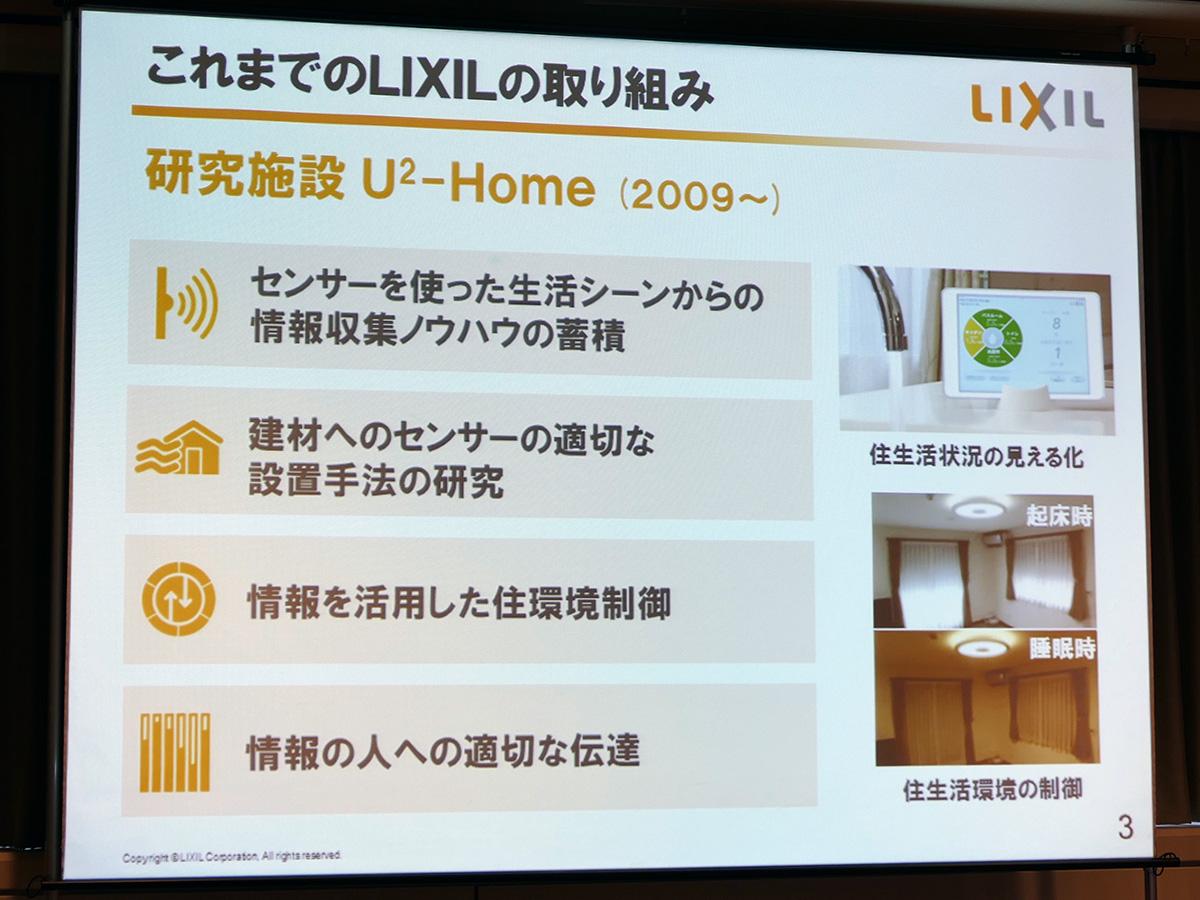LIXILが2009年から展開している研究施設「U2-Home」