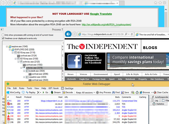 「The Independent」で改ざんが確認されたブログページ
