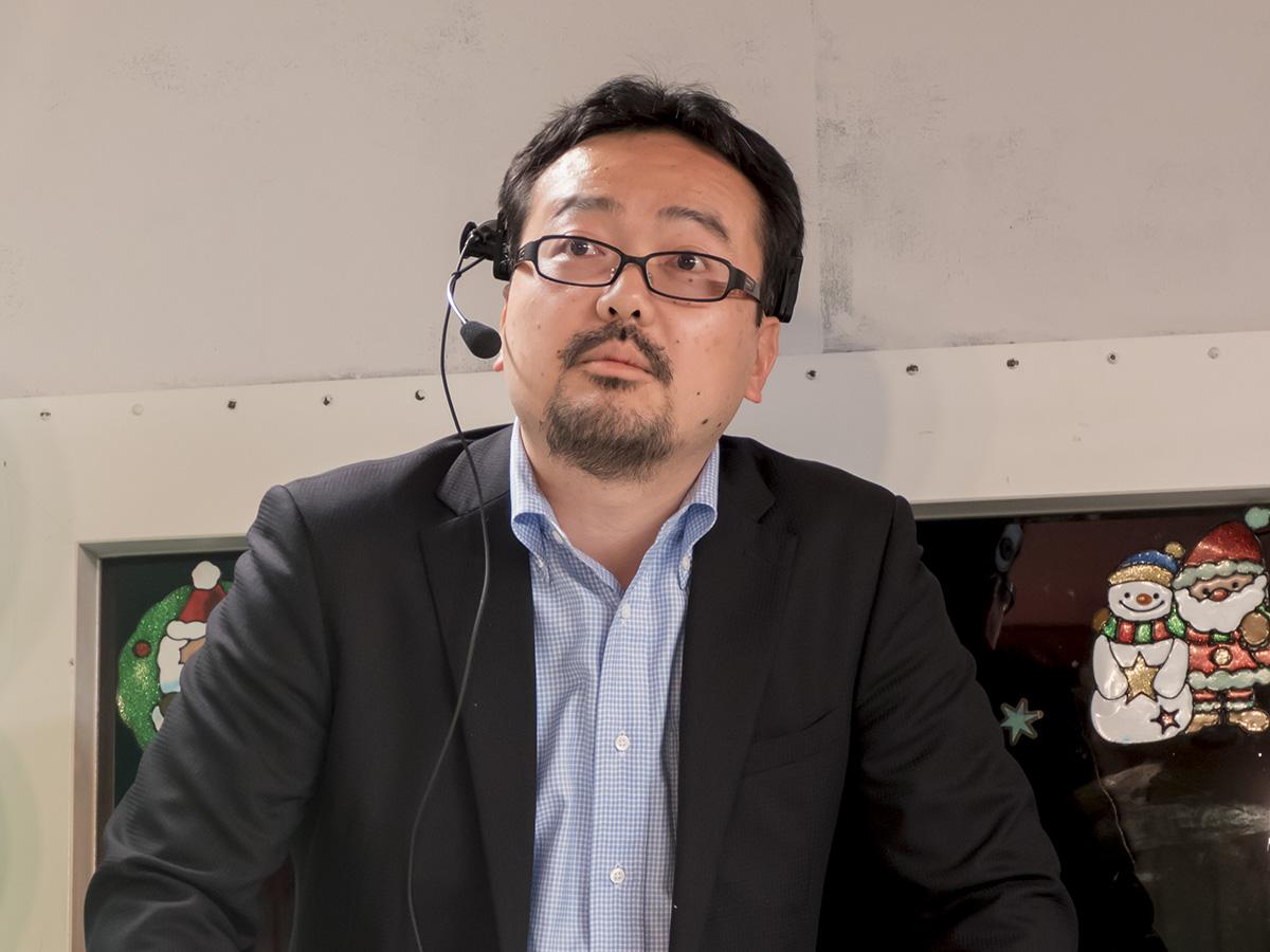 りんなについて解説した、日本マイクロソフト株式会社Bingインターナショナルビジネスディベロップメントシニアビジネスディベロップメントマネージャーの佐野健氏