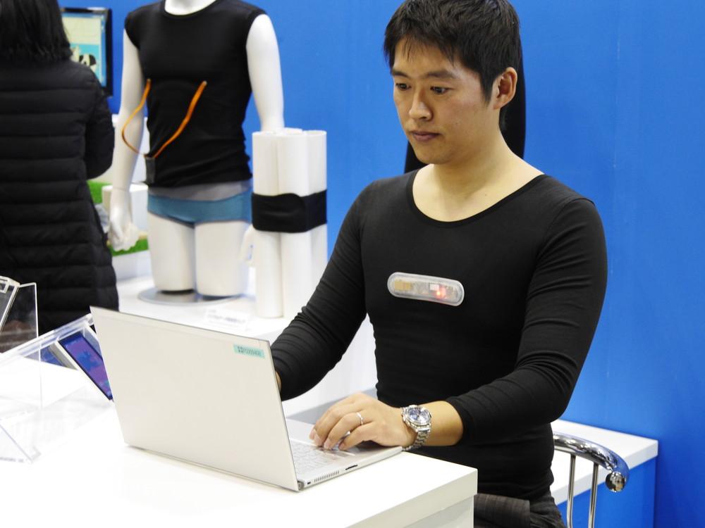 「衣料型ウェアラブルシステム」はスポーツクラブのサービスプログラムや従業員管理プログラムなどに活用できるという