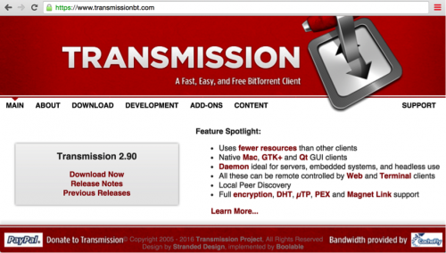 「Transmission」の公式サイト