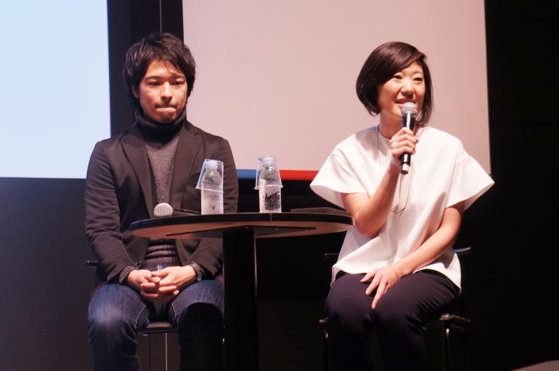 イノベーション東北サポーターの柳川雄飛氏(左)と、Googleの松岡朝美氏(右)