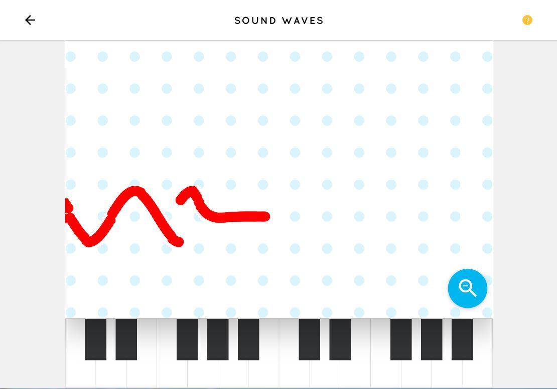 音の高さによって波のうねり方が変わる「Sound Waves」