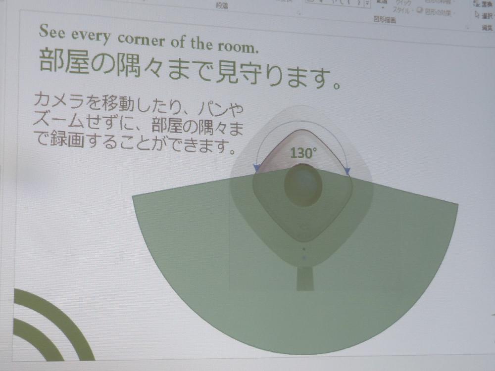 視野角は従来モデルの110度から130度へ