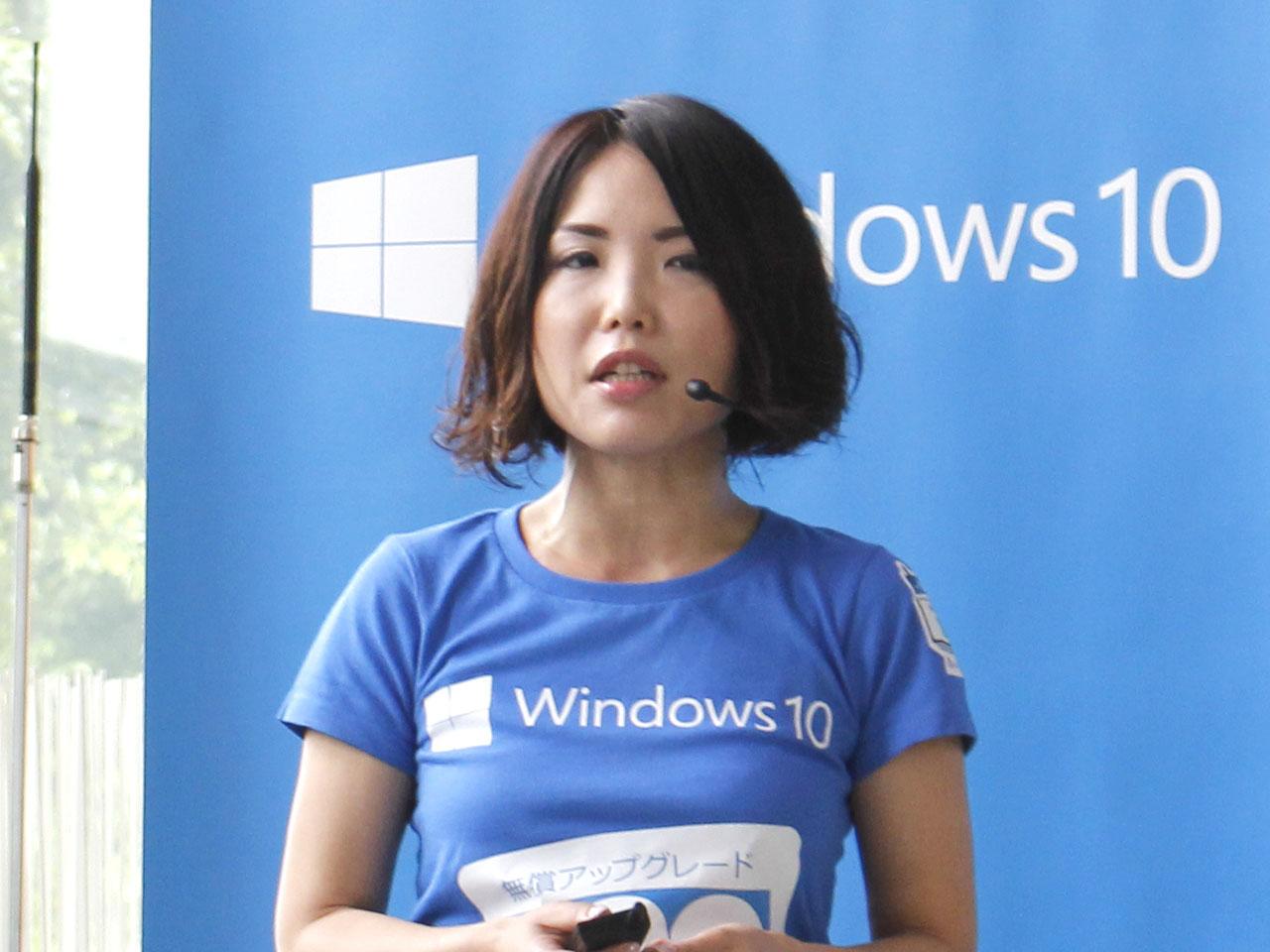 日本マイクロソフト株式会社業務執行役員Windows&デバイス本部長の三上智子氏