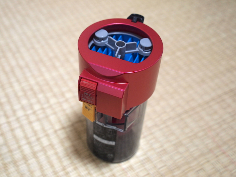 本体から外した、集塵容量約0.2Lのダストカップ