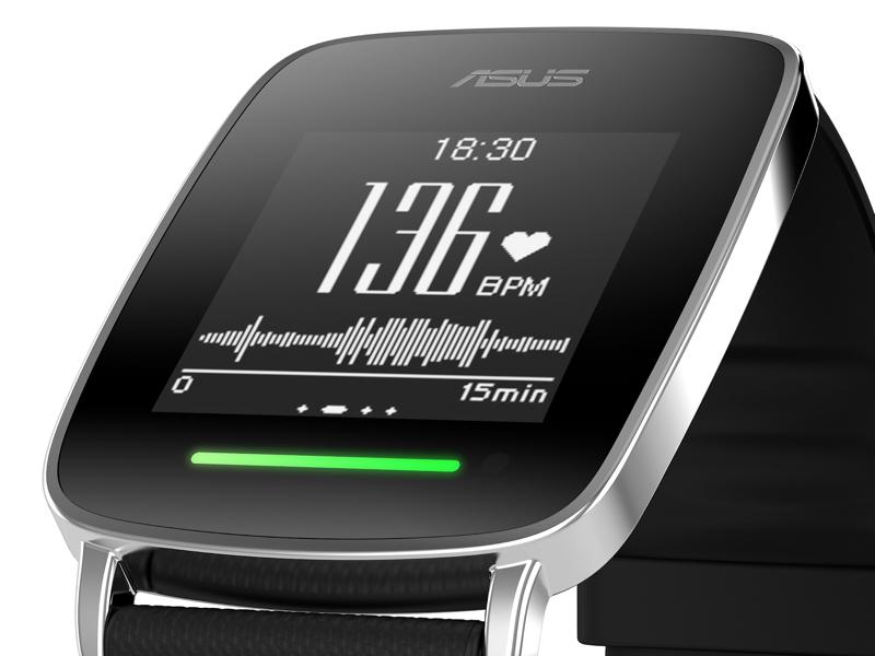 1.28型タッチスクリーンに、脈拍数などの各種データを表示