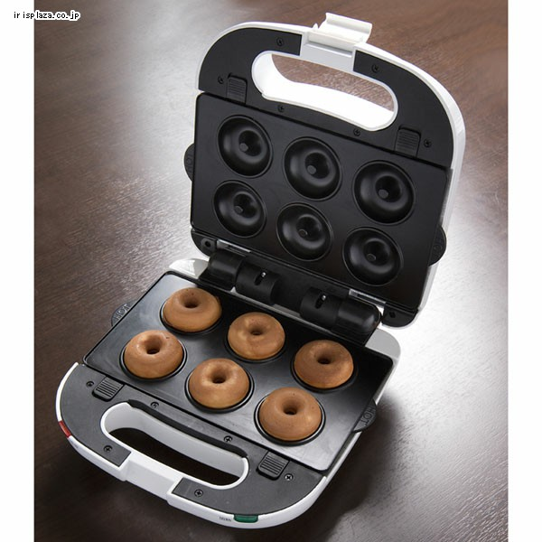 「ドーナツプレート」は、直径4.5cmの焼きドーナツを一度に6個作ることができるプレートである