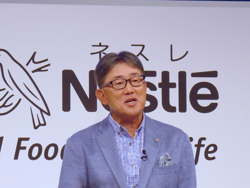 ネスレ日本 代表取締役社長 兼 CEOの高岡浩三氏