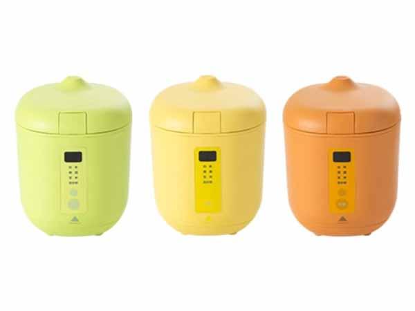"""""""10分ごはん""""専用炊飯器「ポッディー」グリーン・イエロー・オレンジの3色を追加"""