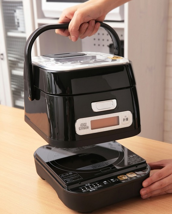 本体は分離式で、IH調理器としても使用できる