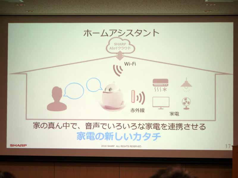 赤外線やWi-Fiを通じて家電と連携するホームアシスタント。音声でコミュニケーションを図る