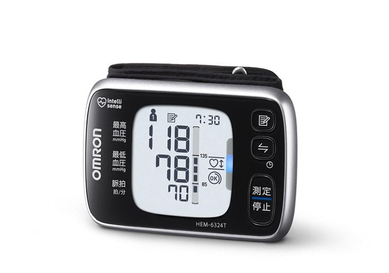 手首式血圧計「HEM-6324T」