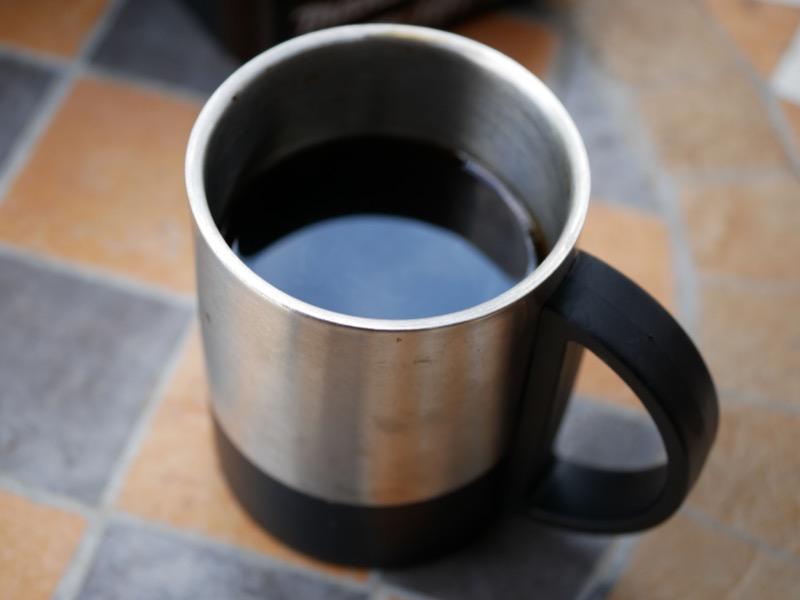 コーヒーの味は意外に美味しかった