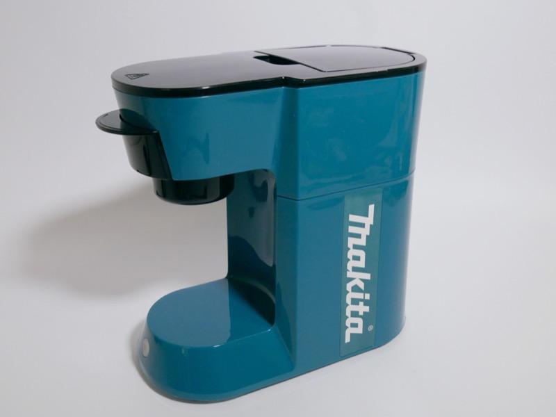 「makita」のロゴが入っているコーヒーメーカー。電動工具マニアにはたまらない