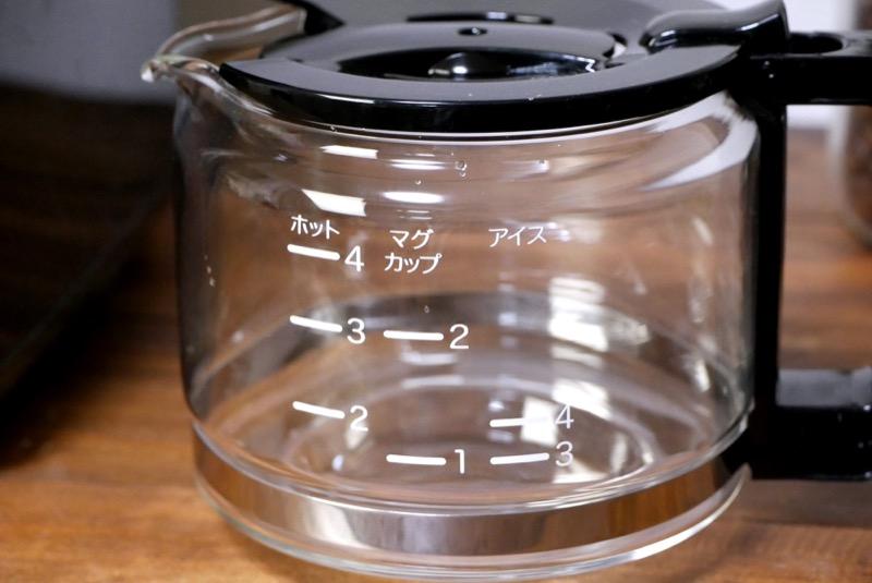 サーバーの目盛りはできあがったコーヒーの分量を表します
