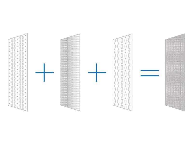 フィルターは3層構造。それぞれ網目の細かさが異なっており、微粒子をキャッチしながらも目詰まりを起こしにくい