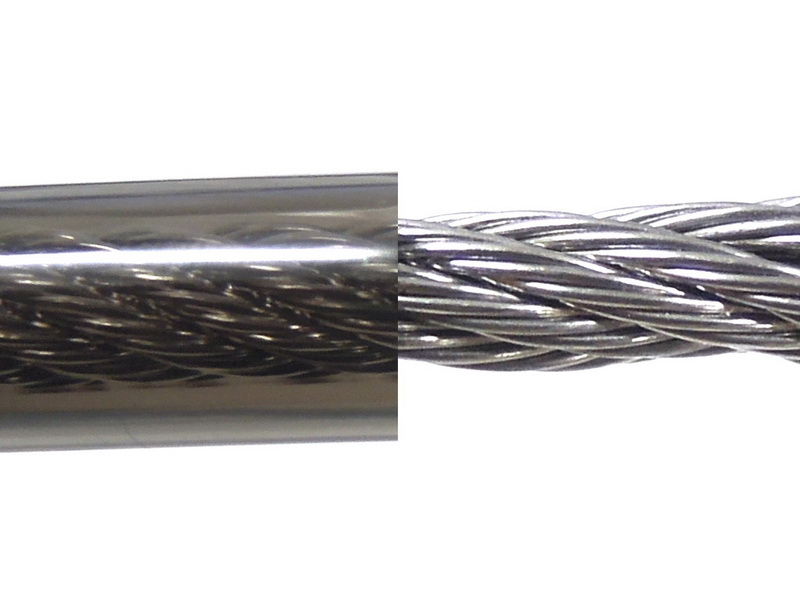 ワイヤーは樹脂製の被膜で保護する