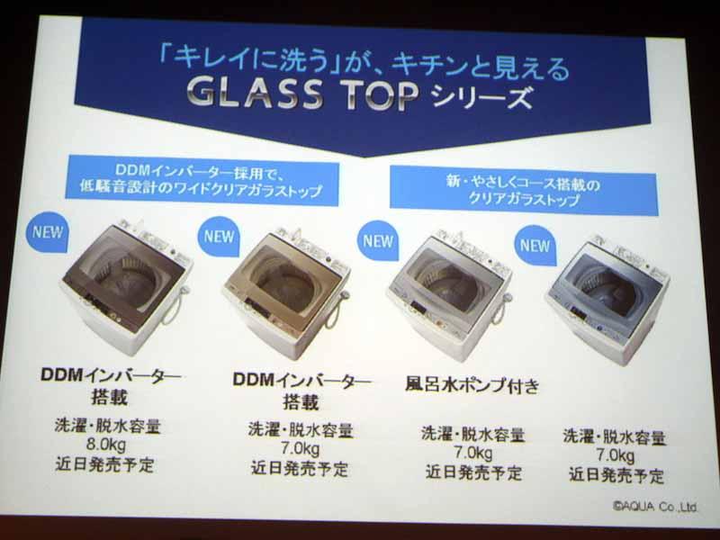新モデル「GLASS TOP」シリーズのラインナップ