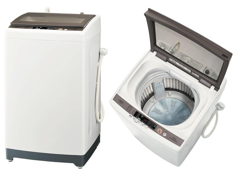 洗濯・脱水容量が8Kgの「AQW-GV800E」