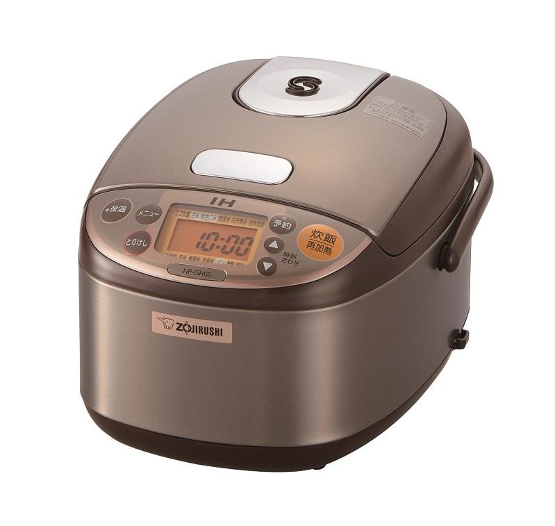 IH炊飯ジャー「極め炊き NP-GH05型」。カラーはステンレスブラウン