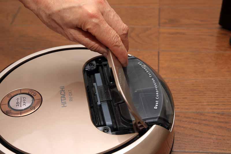 ゴミ捨ては簡単で、手が汚れることもない