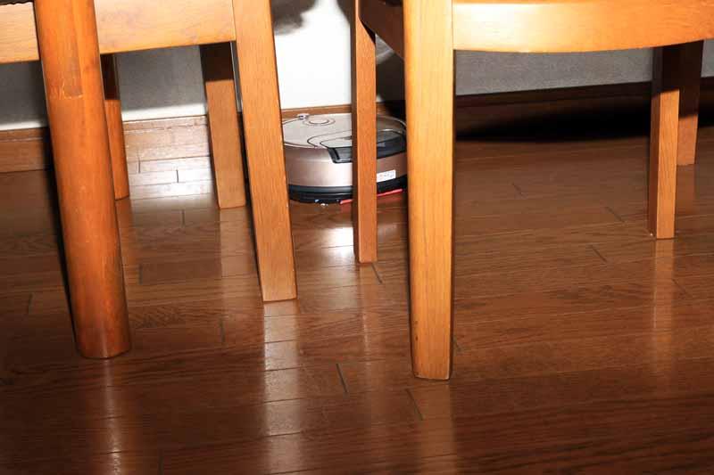 壁際に家具がある場合は少し動きづらそうだった