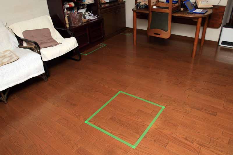 部屋の中央は毎回必ずバッチリ掃除してくれる