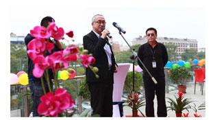 1月19日現地で開催した開所式の模様。中央は常務 海外事業統括 兼中国代表 兼SUT会長 藤本俊彦氏