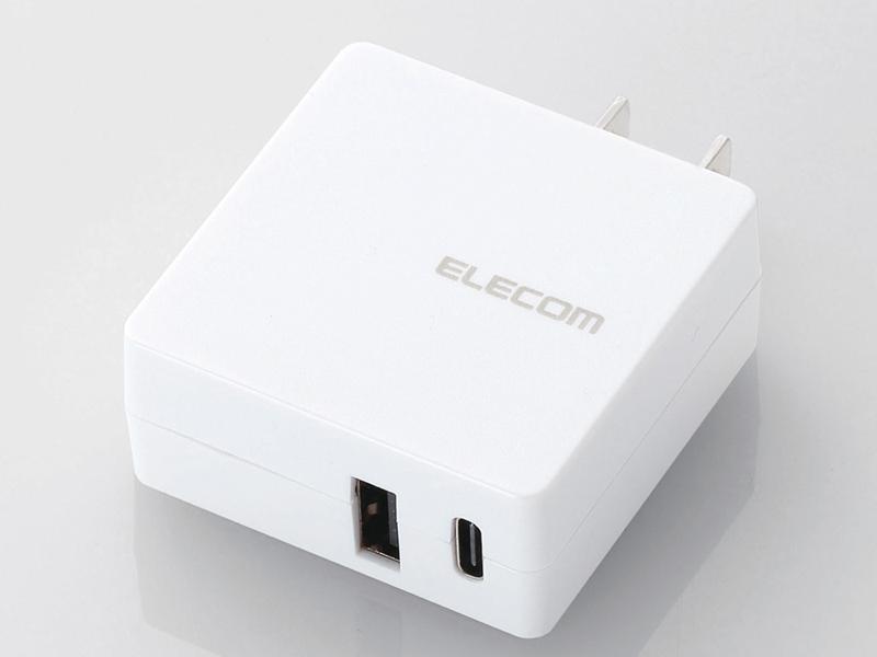 USB Type-CポートとUSB Aポートを1ポートずつ搭載した「MPA-ACCEN009シリーズ」。ホワイト