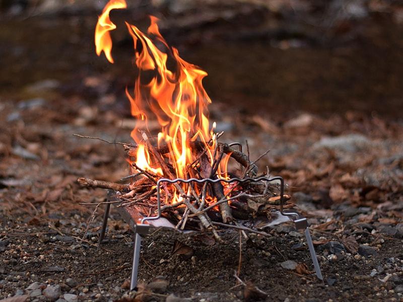 焚き火も楽しめる