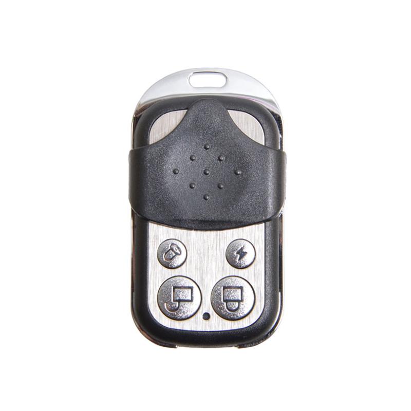 付属のリモコンでモード設定が可能。手動でアラームも鳴らせる