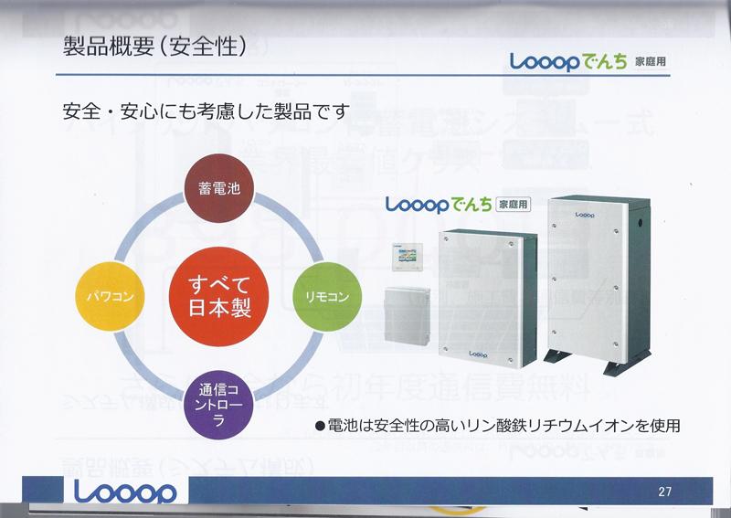 家庭用蓄電システム「Looopでんち」
