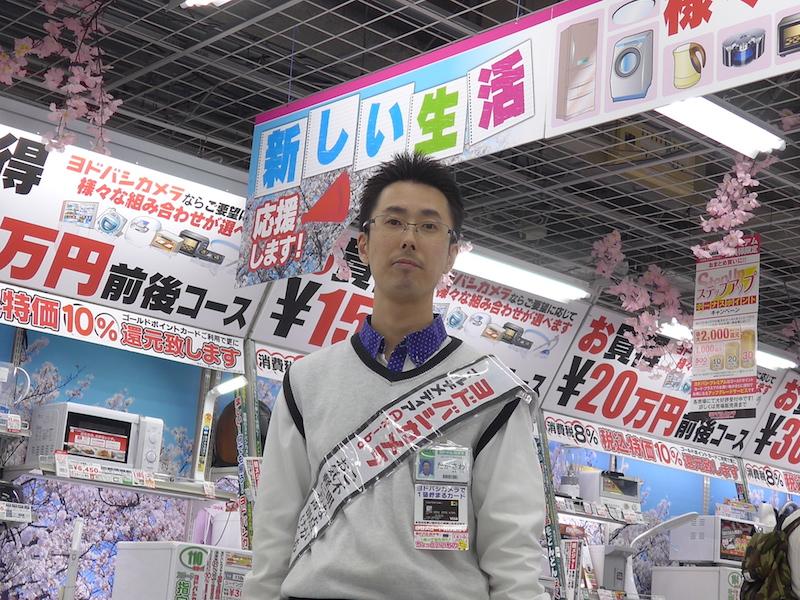 家電コーナー担当の髙澤浩二さん