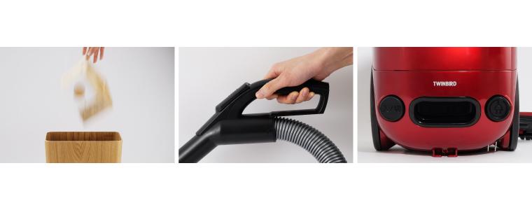 握りやすいサークルハンドルやシンプルな操作部を採用