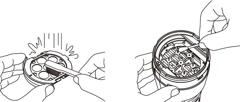 フィルターレスで、メンテナンスは本体の電極ユニットを掃除するだけと容易