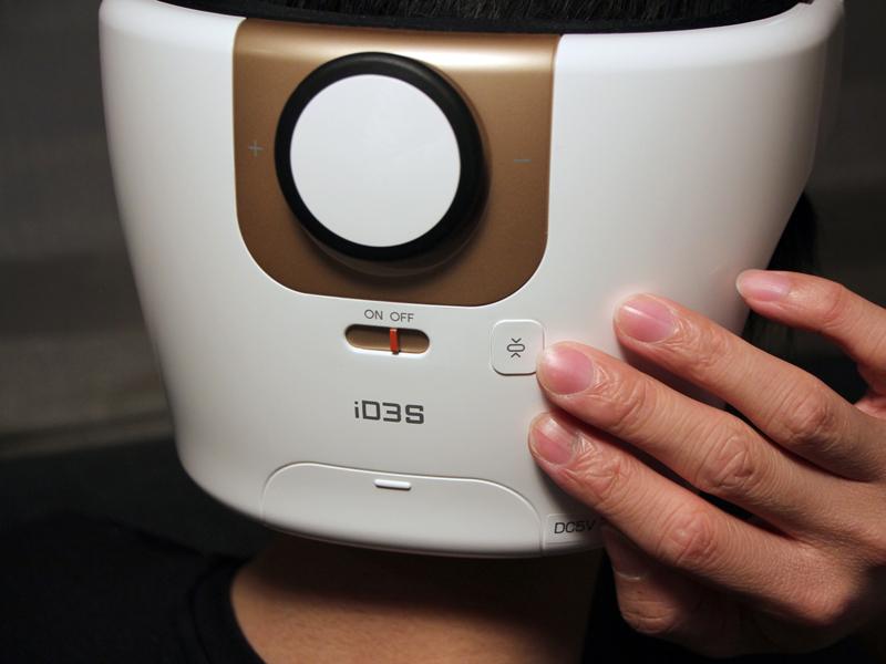 エアープレッシャーの締め付けがキツイときは、背面の排気ボタンを押せば空気を抜ける。隣の電源ボタンで運転をOFFにするのも可能。ボタンは背面にあるが手探りでもすぐにわかる