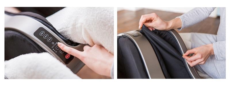 操作パネルで簡単に設定可能。インナーカバーは取り外して洗える