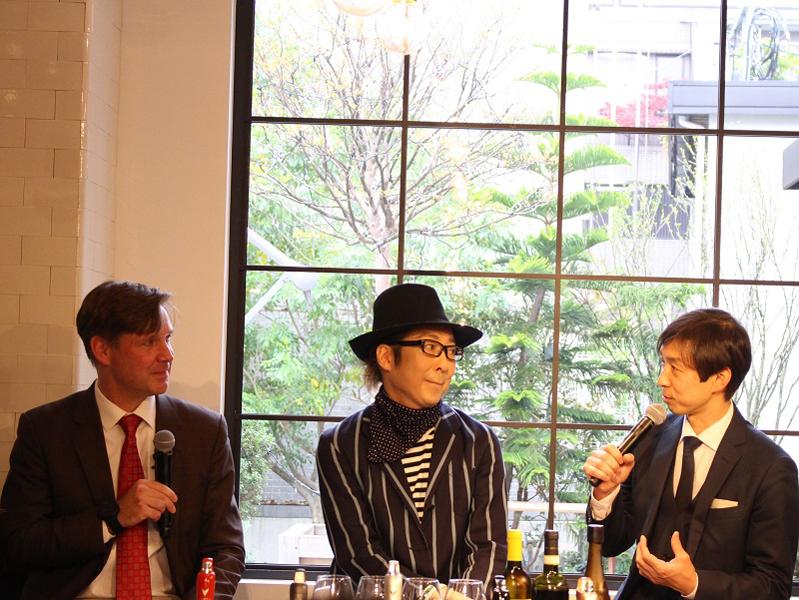 左から、ランブレクト氏、マロン氏、森上氏