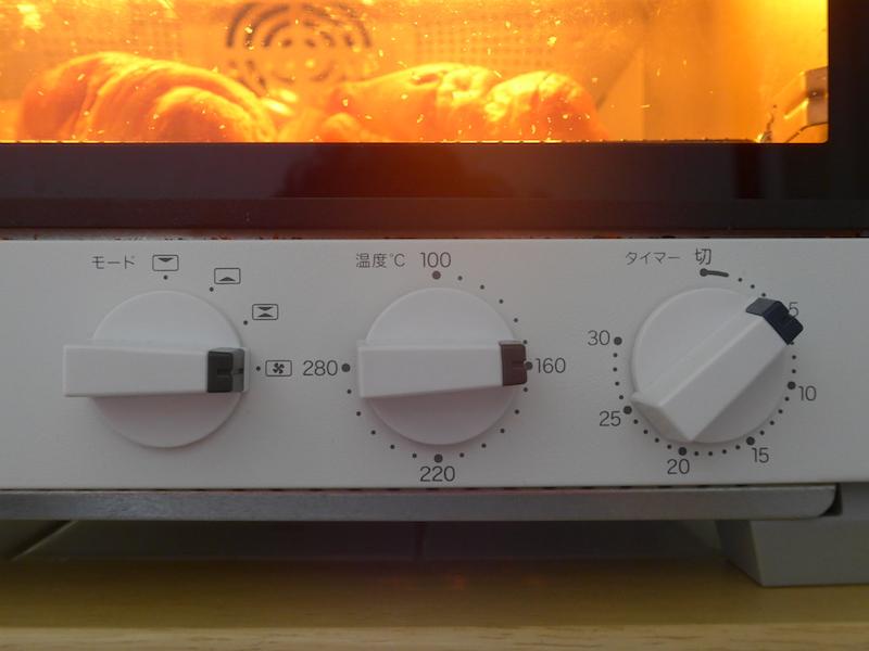 クロワッサンは160℃/コンベクション/4分で設定