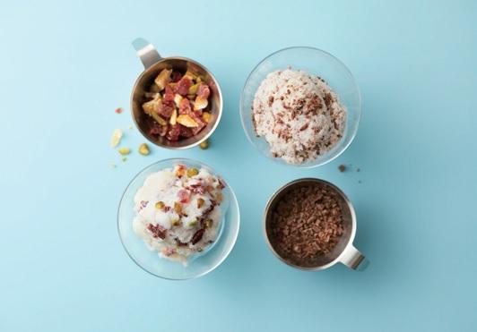 異なる味のアイスを同時に作れる