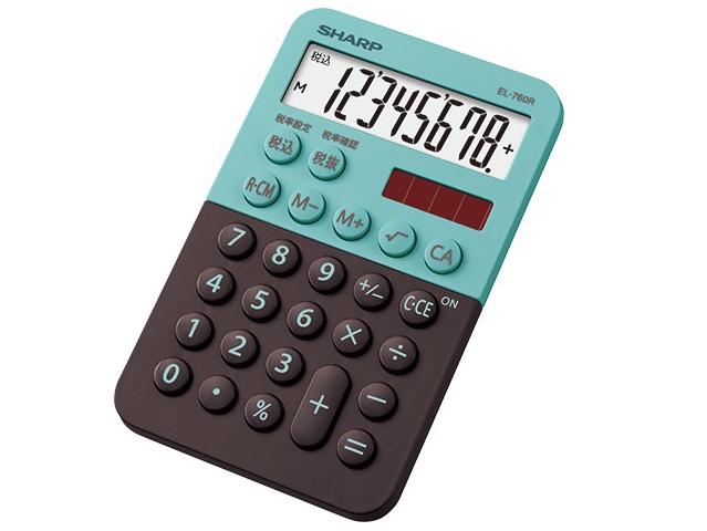 ミニミニナイスサイズ電卓「EL-760R」